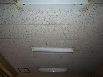 室内側40W2灯逆富士照明