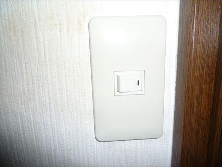 トイレ照明スイッチ修理後