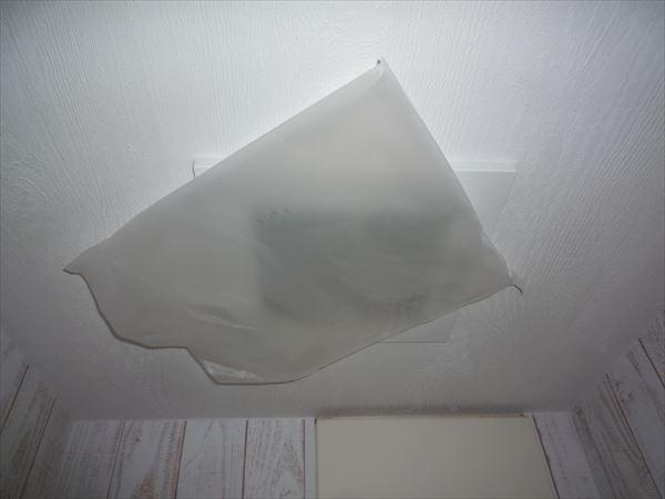 トイレダクト換気扇吸込みテスト