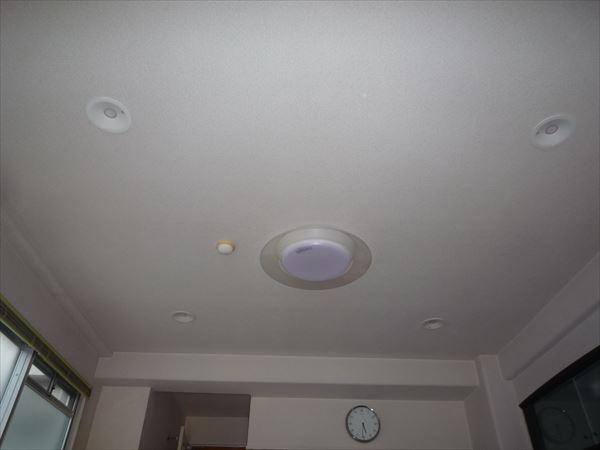 LEDダウンライト照明に交換後