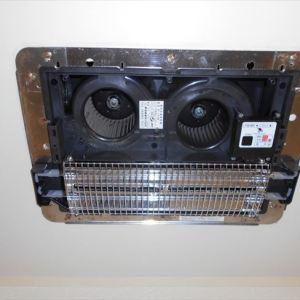 壊れた浴室暖房換気乾燥機を埋込換気扇に交換