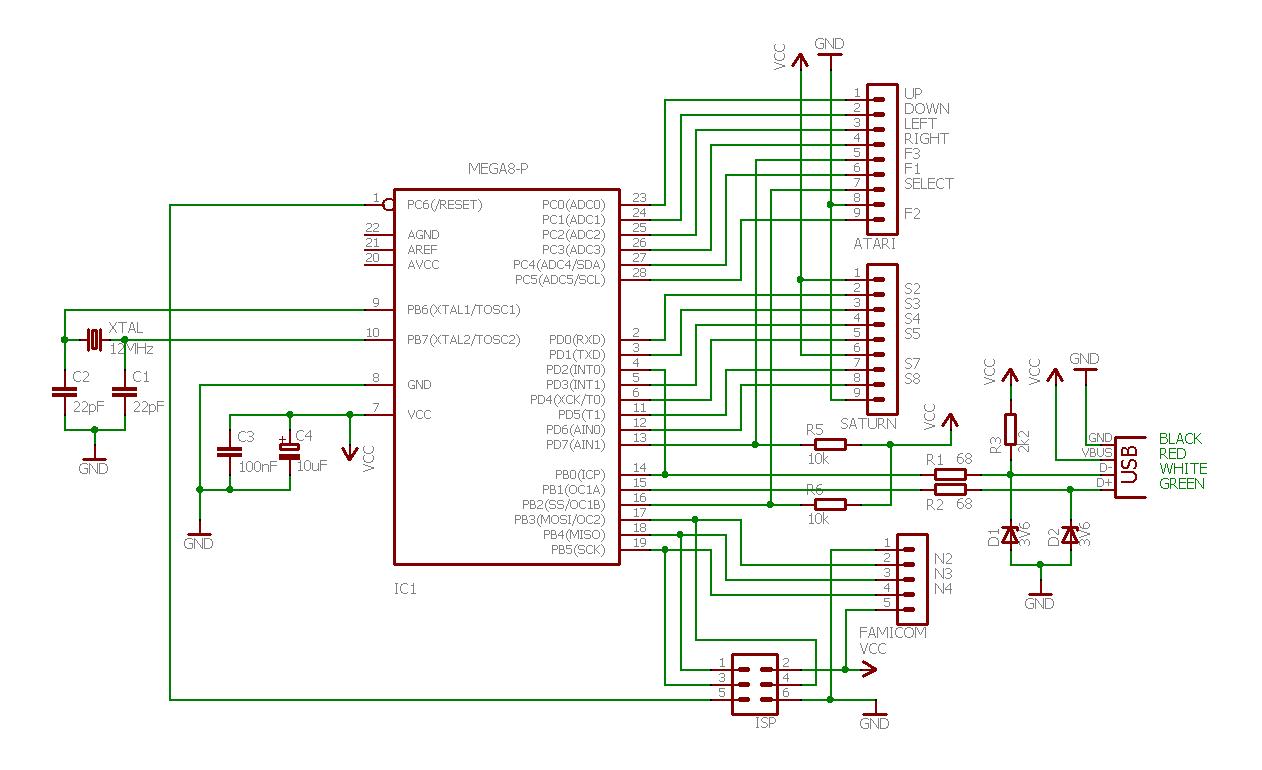 ps2 to usb converter wiring diagram pressure tank setup joystick controller retro adapter