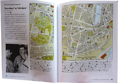 book spread with map