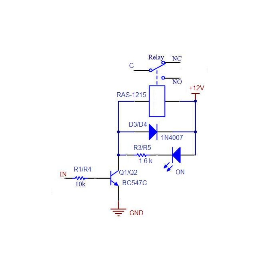 medium resolution of 4 channel relay board circuit 8 channel relay module wiring diagram relay wire diagram fan relay