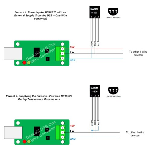 small resolution of connection ds18s20 to denkovi usb one wire adaptor