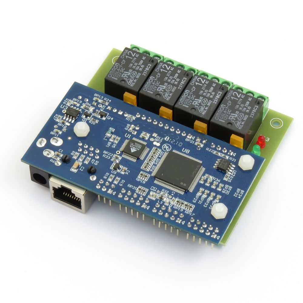 hight resolution of internet ethernet four 4 channel relay module board ip web