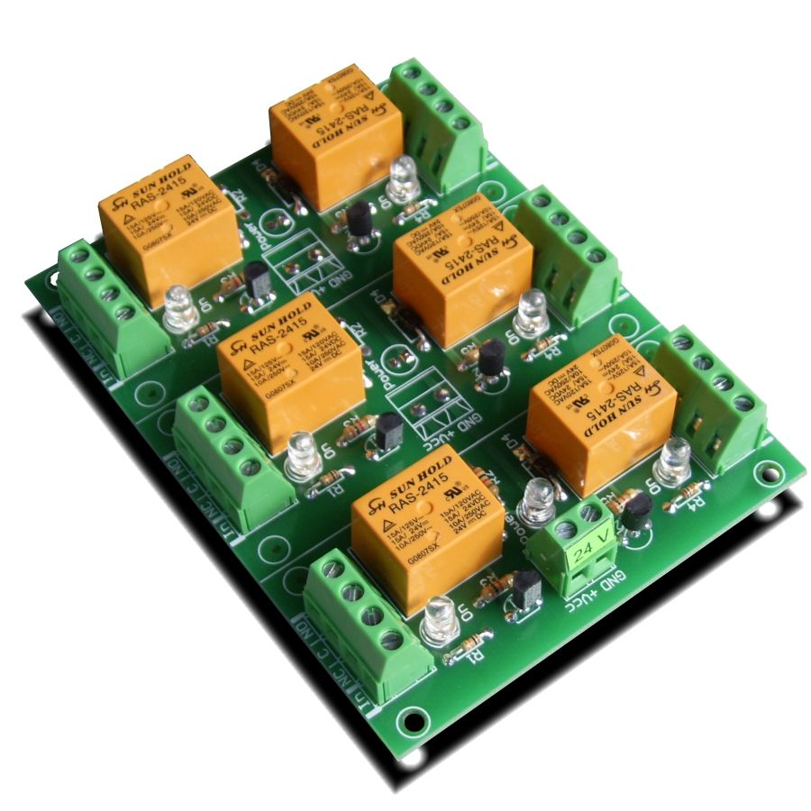 medium resolution of 6 channel relay board for your arduino or raspberry pi 24v