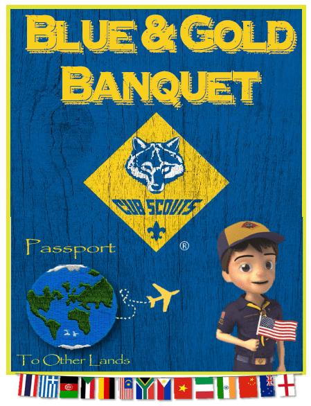 blue & gold passport lands