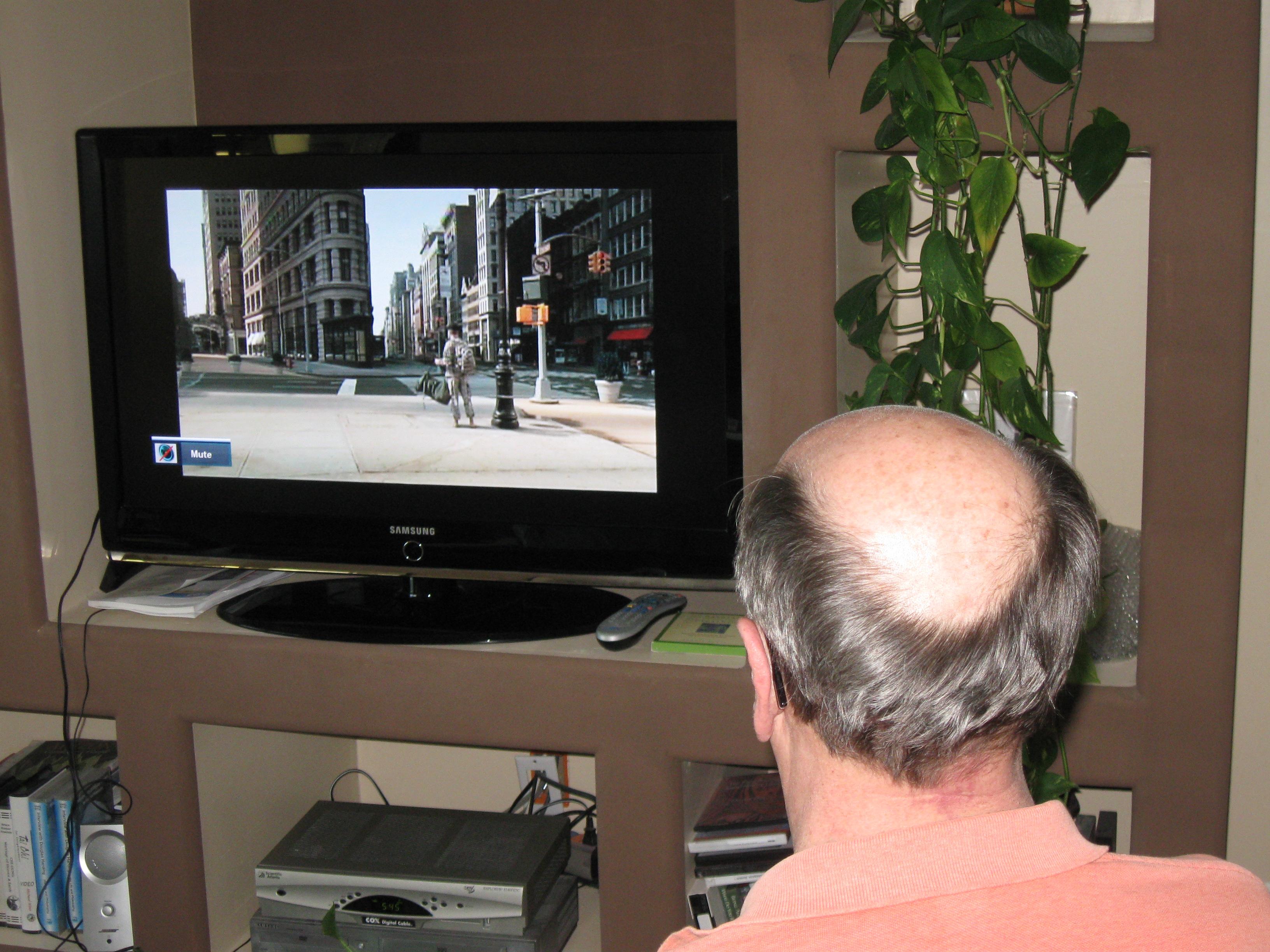Dennis, Wide Awake, Watching TV
