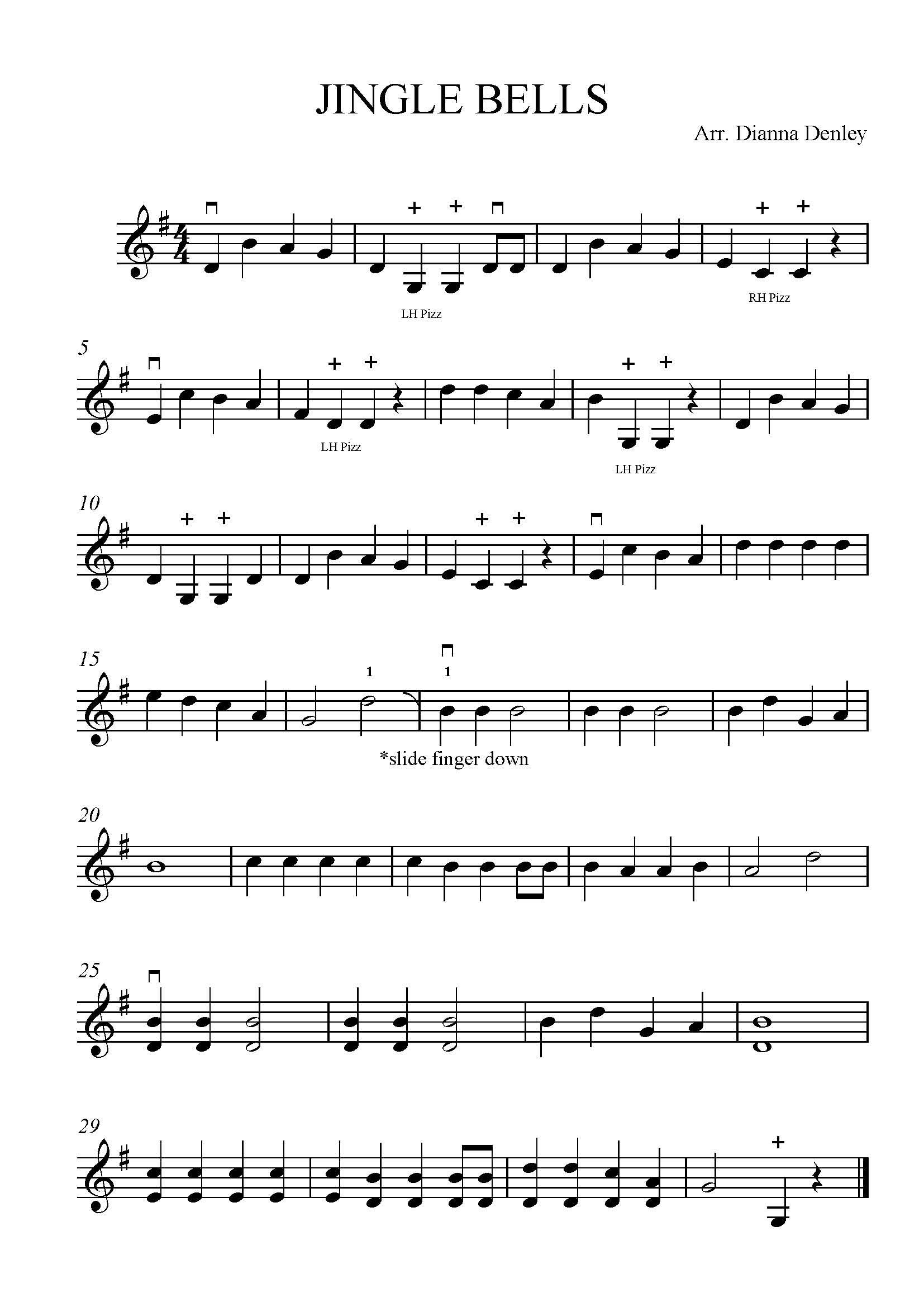 Jingle Bells Sheet Musoc