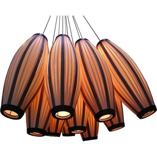 Bộ đèn chùm phù hợp không gian trần cao