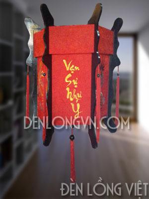 đèn lồng gỗ tết vạn sự như ý Mẫu đèn lồng gỗ trang trí tết