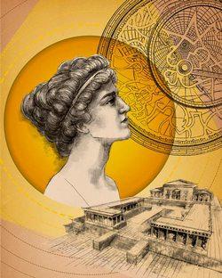 Hypatia. Ilustración de Joanna Smolarczyk. Poster for SPiN Day in EC1
