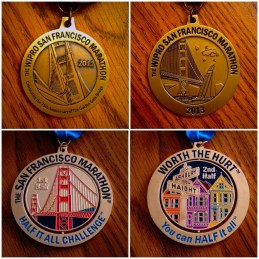 First Half, Second Half, and Half it All Challenge Bling!