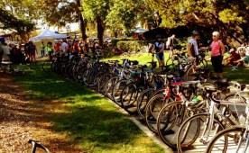 Finish/Bike Swap area