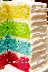 Skittle Rainbow Layer Cake