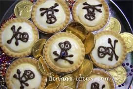 Jolly Roger Pirate Almond Tarts!