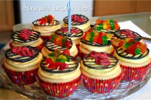 Steaks and kebabs on cupcakes for your favorite grillin' man!