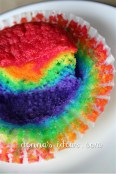 Cupcake liner paper is so rainbow cool!