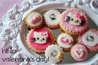 Hello Kitty fondant cookies