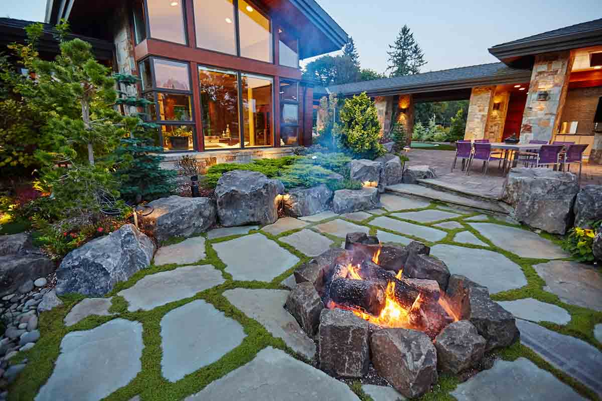 Residential Landscaping Fire Pit