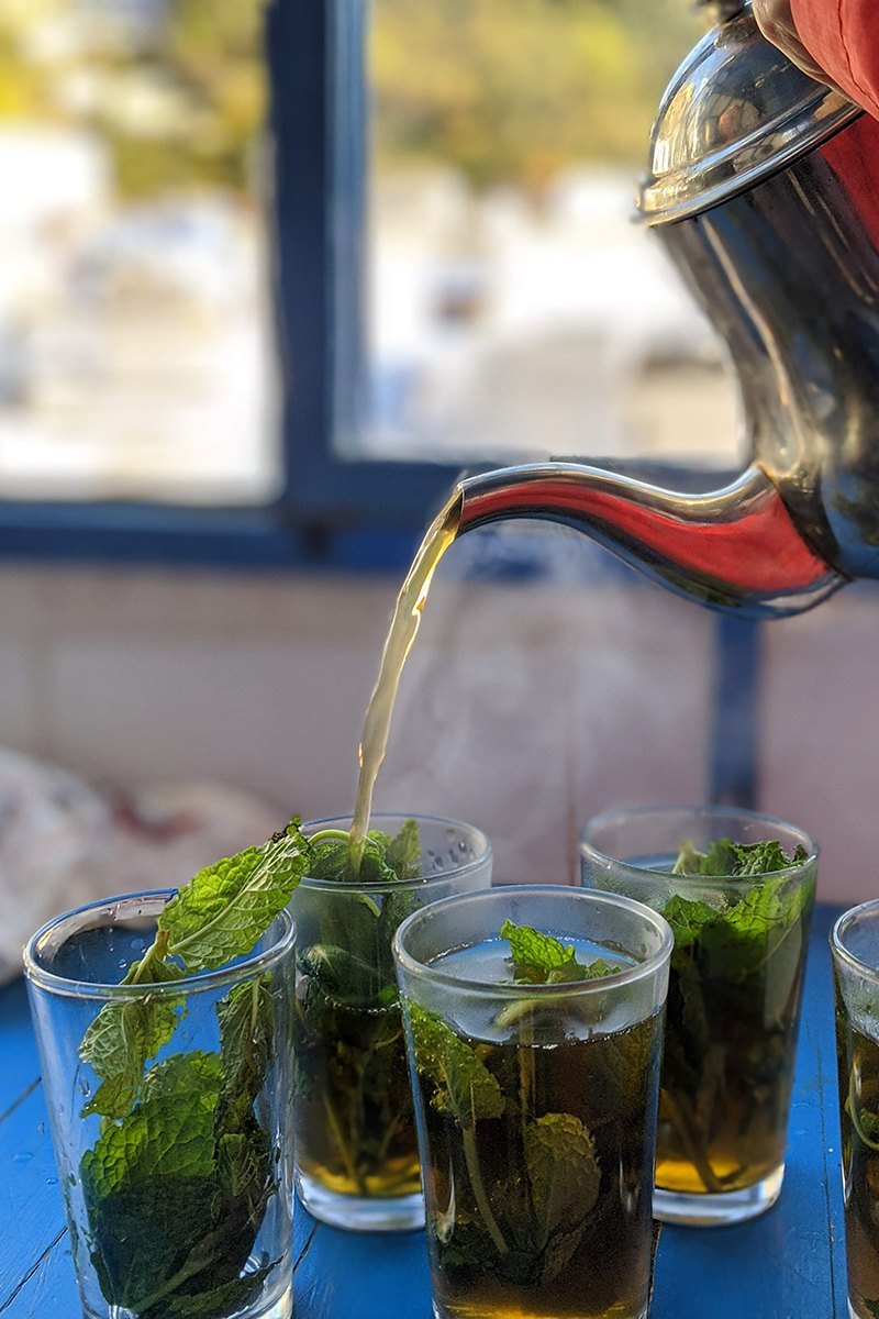 fresh mint herbal tea
