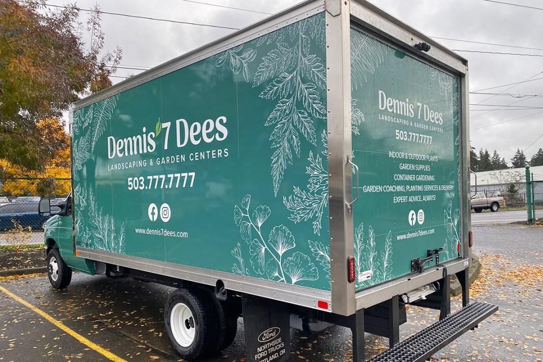 Dennis' 7 Dees delivery truck