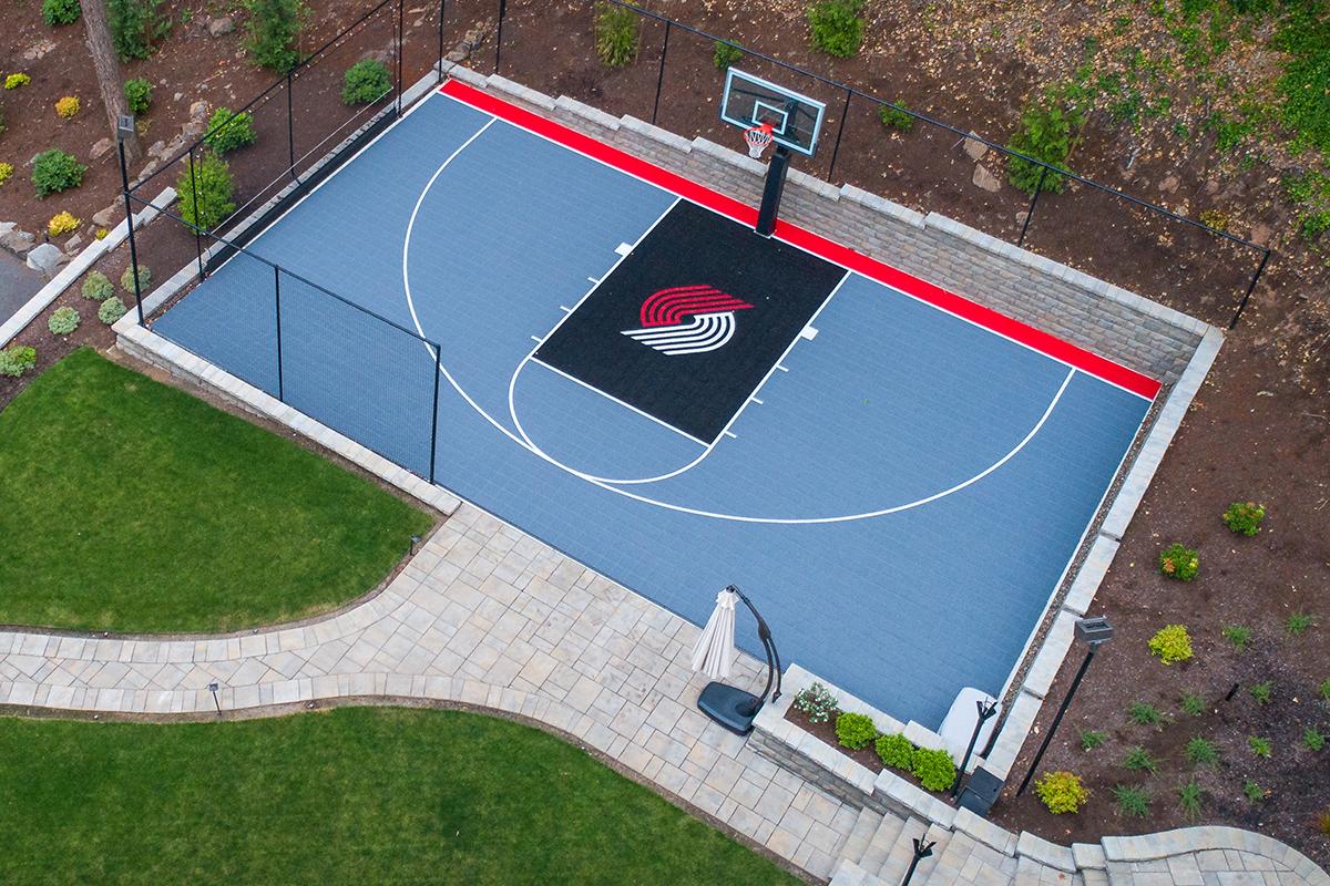 Blazers basketball court
