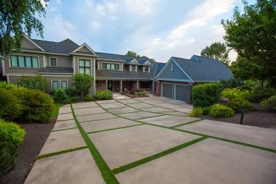 modern paver driveway
