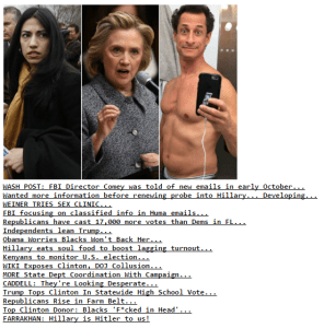 Drudge Headlines Nov 3 2016...