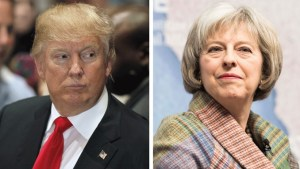 The best of friends and allies for the future? Donald and Theresa..
