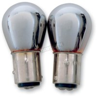 Advanced Lighting Chrome Double Contact Natural Amber Bulb ...