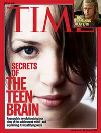 """Time magazine cover story, """"The Teen Brain"""""""