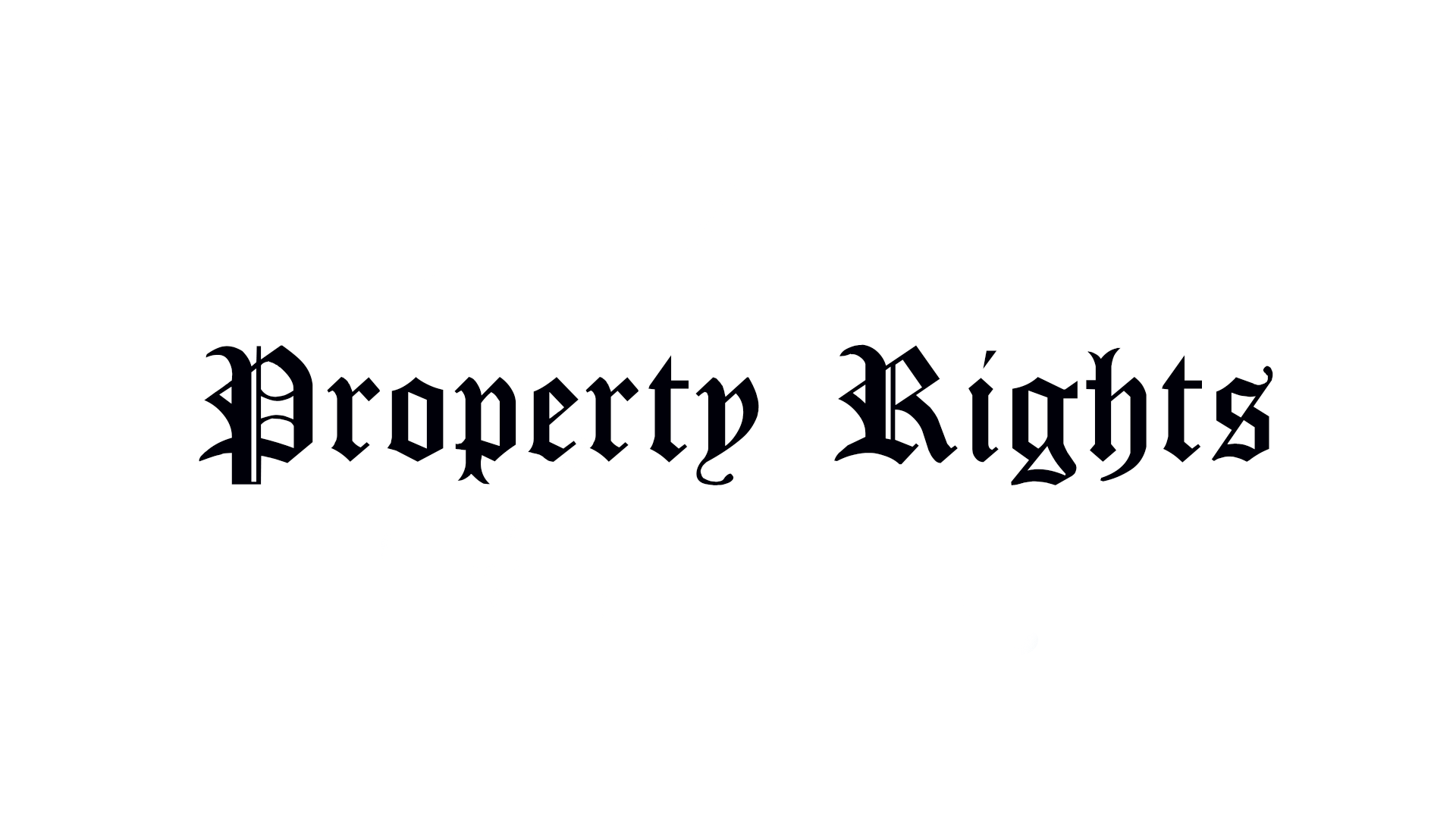 Property Rights Debates in Parliament 1983 – 2005