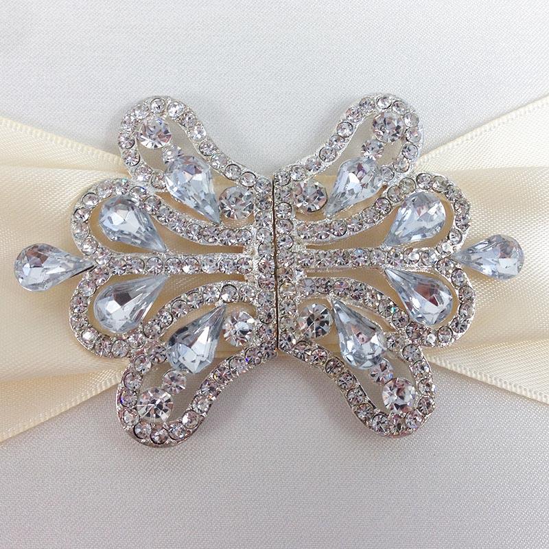 Diamond Rhinestone Wedding Embellishment Clasp