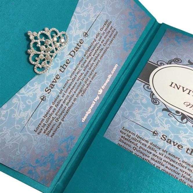 Light Teal Color Luxury Silk Pocket