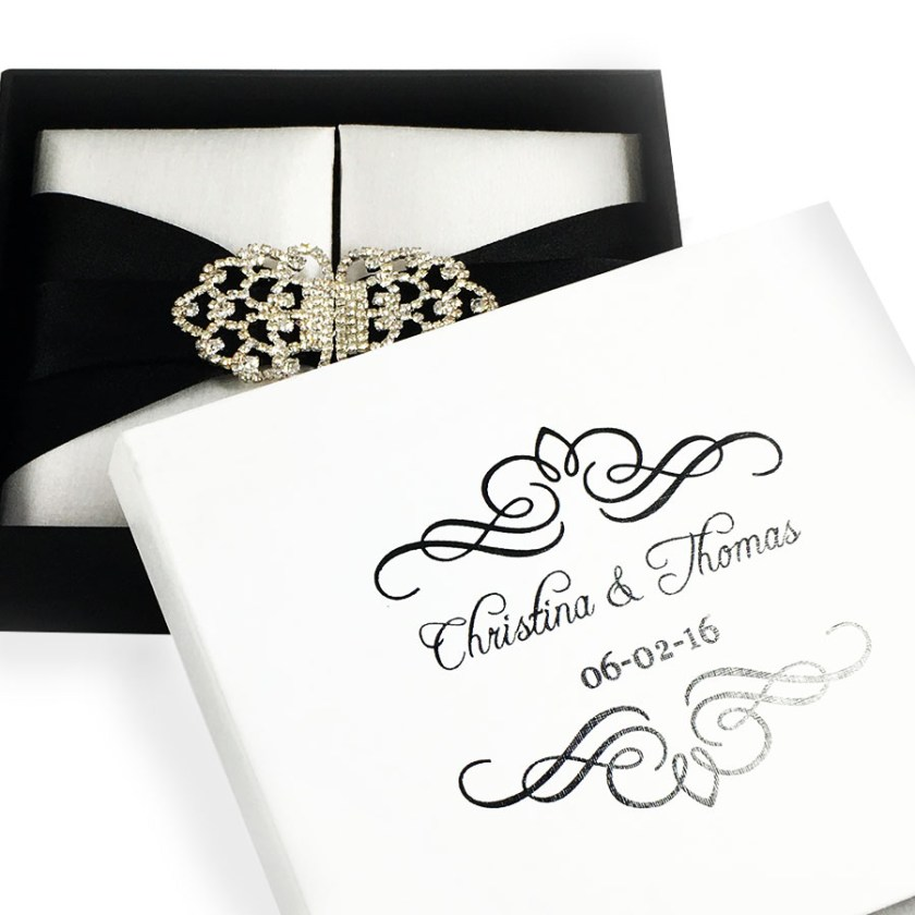 Invitation Bo With Bride Groom Name Wedding Date Personalized Mailing