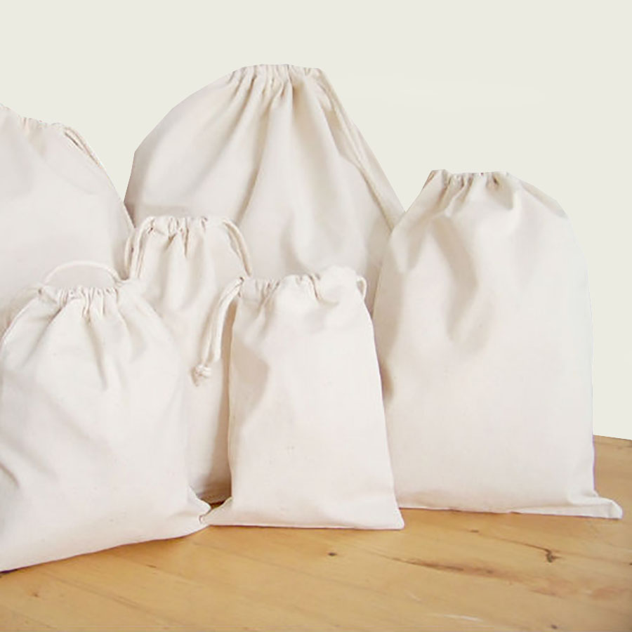 Drawstring Bag 100 Cotton For Promotional Use Packaging Sports  Travel  Luxury Wedding