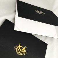Black Embroidered University Degree Folder