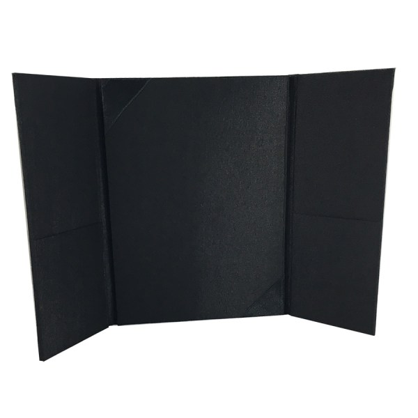 Black Silk Trifold Pocket Wedding Invitation - Luxury