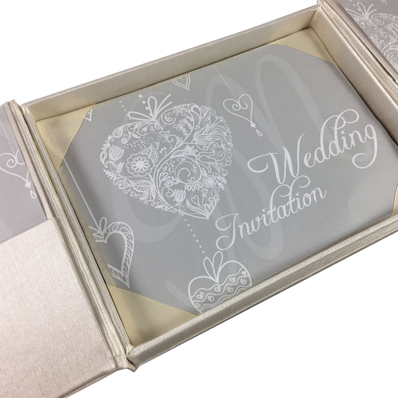 Ivory High End Couture Boxed Wedding Invitation That