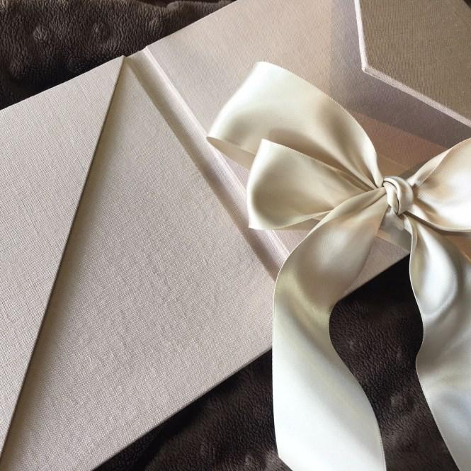 Linen Invitation Envelopes With Pocket