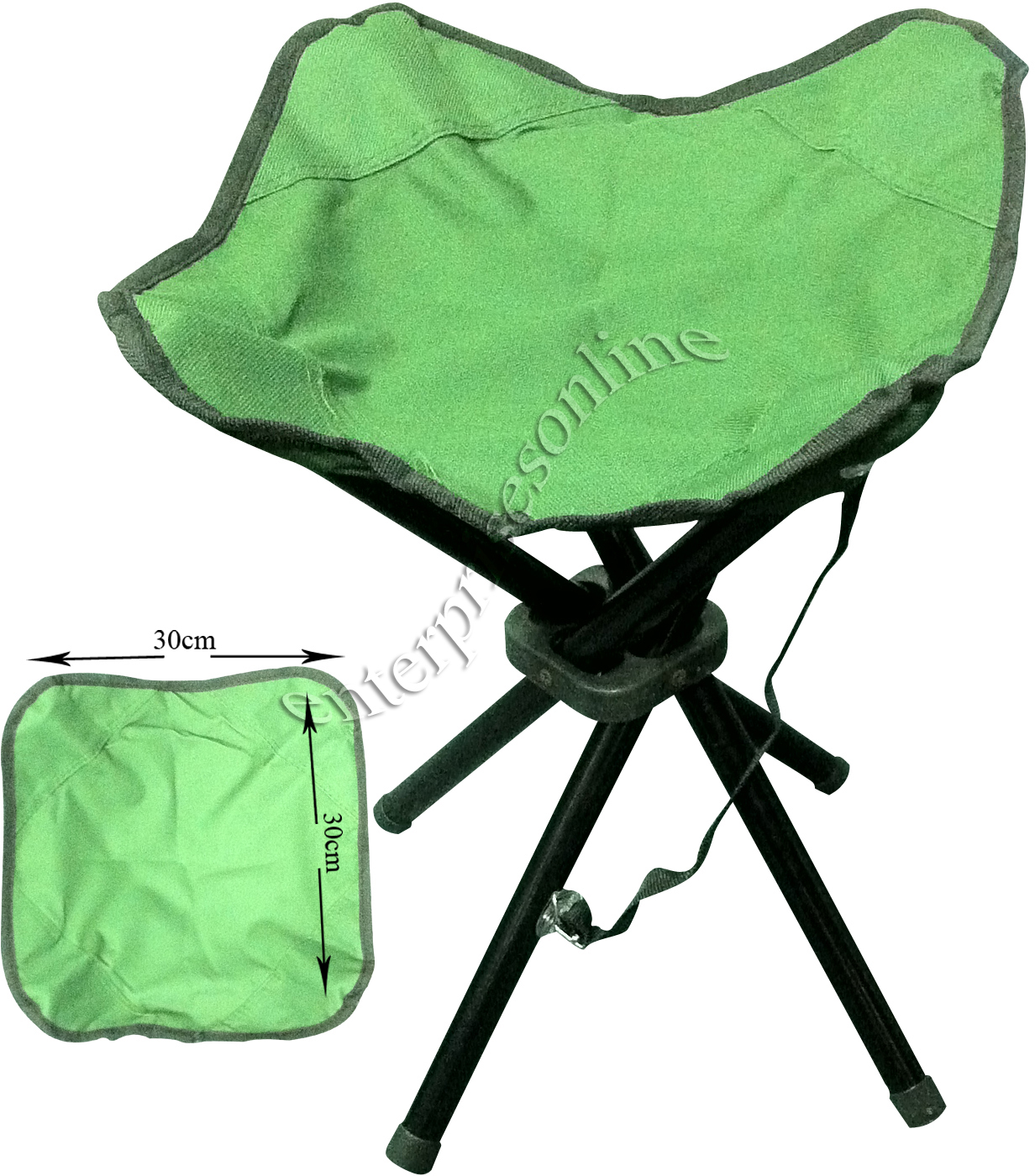 Hiking Chairs 4 Legs Portable Folding Camping Stool Chair Seat Hiking