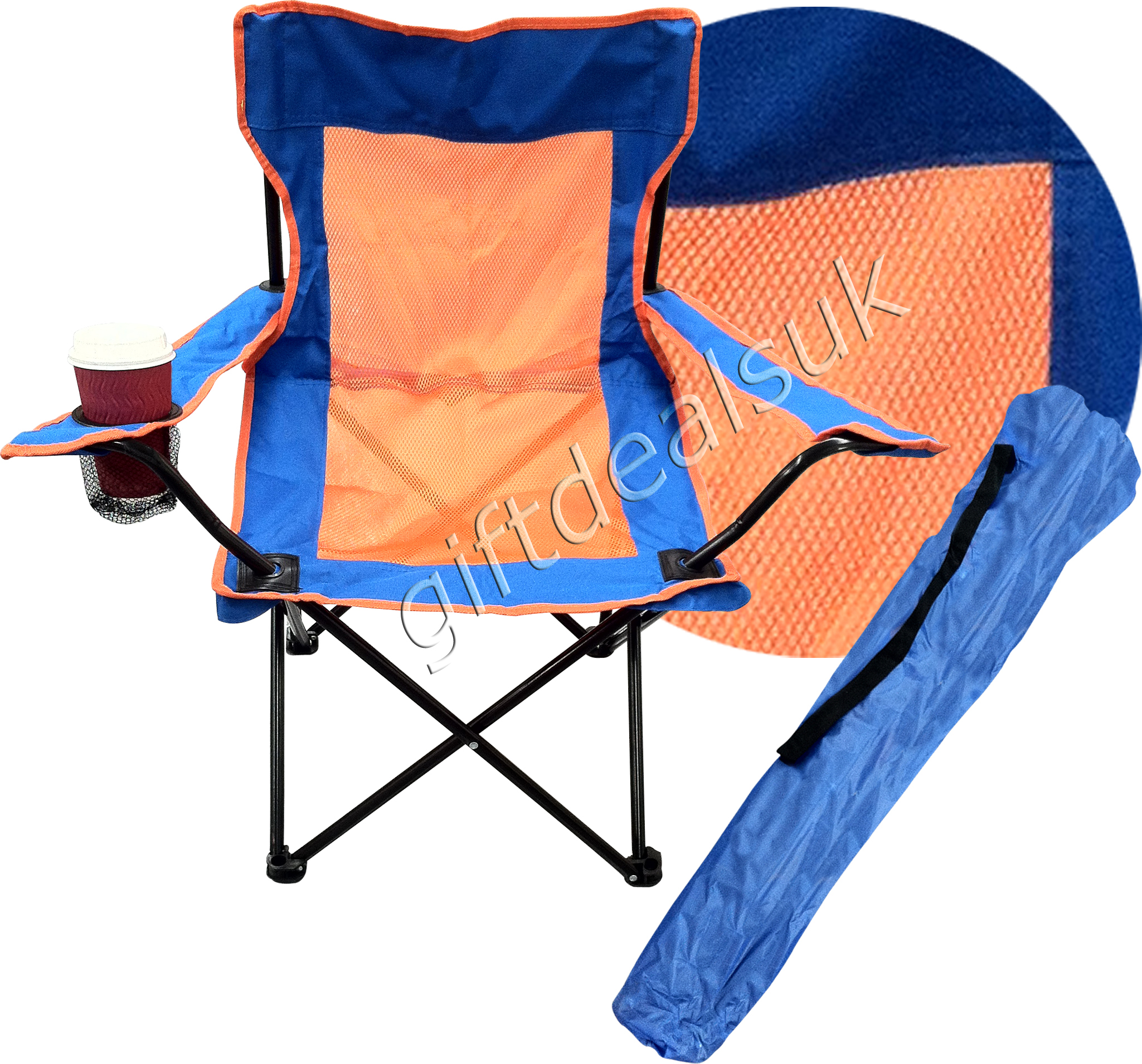 Camping Directors Chair Portable Folding Camping Directors Chair Cup Holder 4