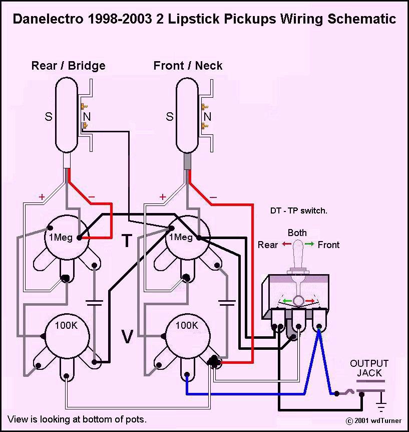 guitar pickup wiring schematics