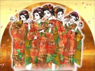 Fan art of the Kimono Girls.