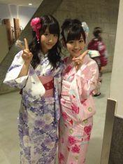 "My favorite ""double team""! Yukirin and Mayuyu!"