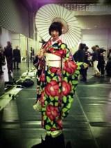 mariko with umbrella