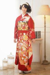 Rena Matsui red kimono