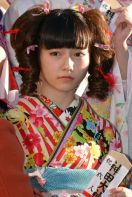 Such a pouty face for such a beautiful young lady in a beautiful kimono. January 13, 2014